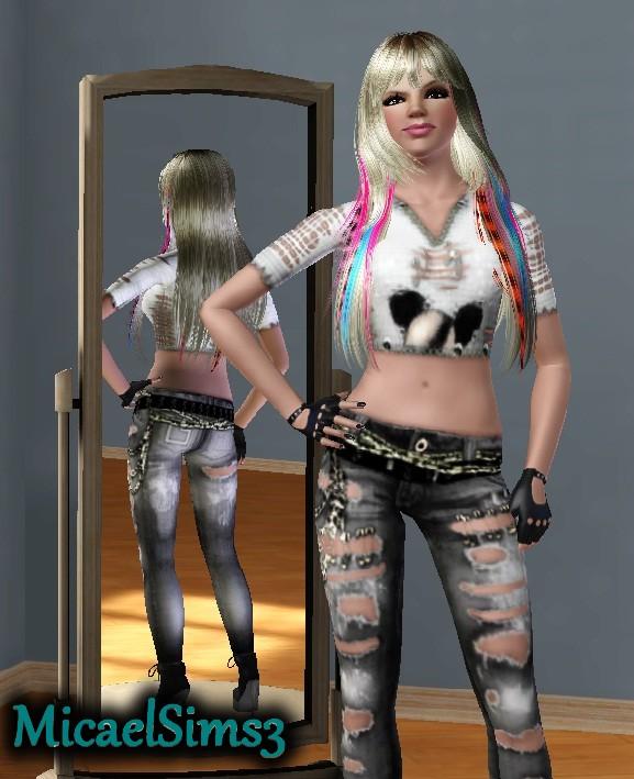 World Micael Sims 3 : Sim Britney Spears para The Sims3