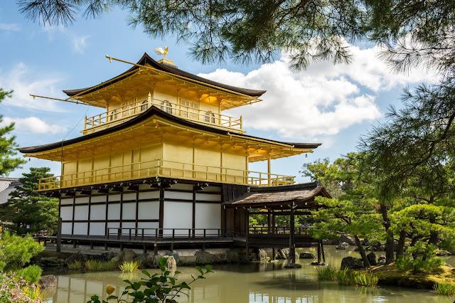 Japonsko, Japan, Kjoto, Kyoto, Kjóto, Golden Pavilion, Zlatý pavilon, Zlatý chrám, Kinkakuji,