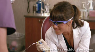 Sexy Jennifer Aniston squirts Charlie Day in Horrible Bosses wearing Custom Oakley Radar Glasses