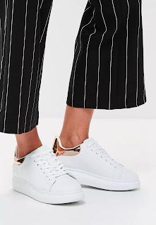 Missguided White Flatform Trainers