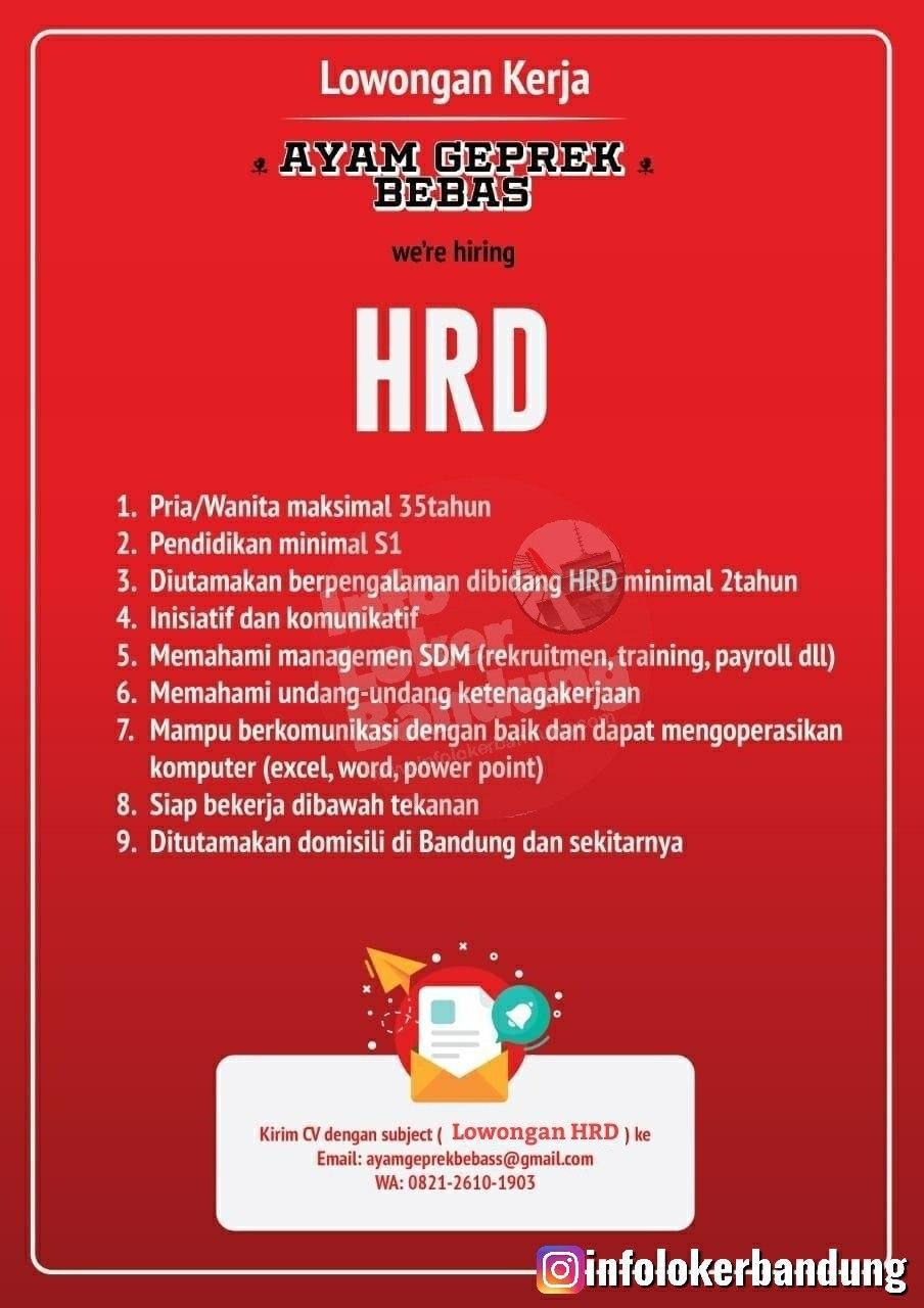 Lowongan Kerja HRD Bandung Januari 2020
