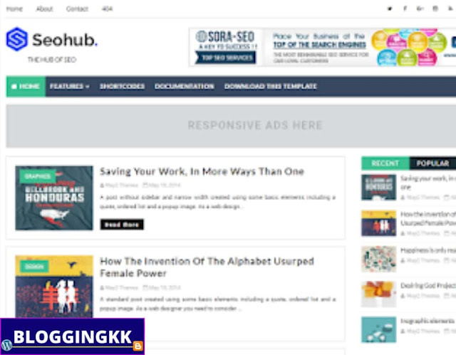 10. SEO Hub Blogger Theme