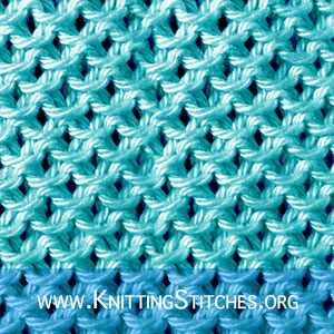 I love this stitch pattern! It's so easy and the fabric created is perfect for a dishcloth.