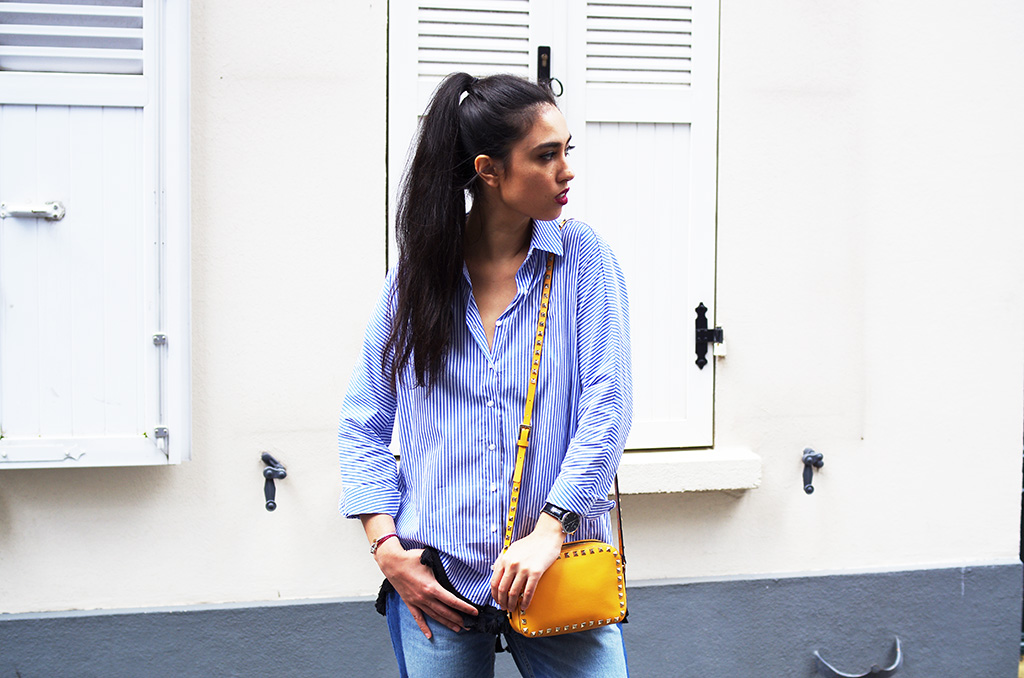 Elizabeth l Stripes & Pom poms outfit l Zara Valentino l THEDEETSONE l http://thedeetsone.blogspot.fr