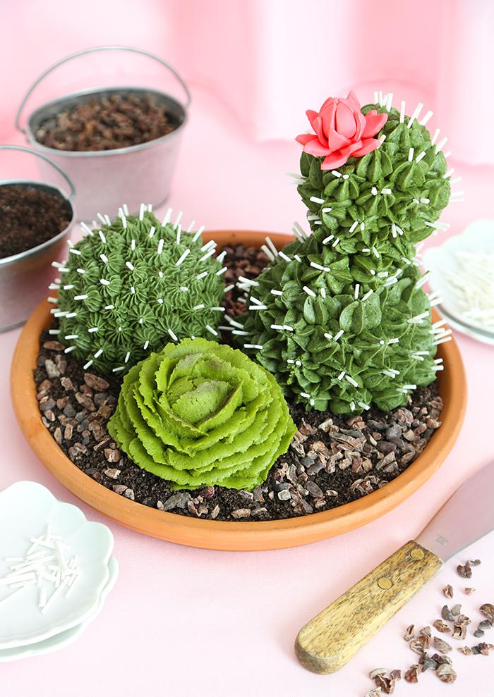 Cactus Garden Cakes | Sprinkle Bakes