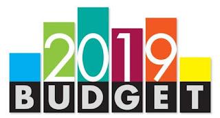2019 Budget என்று எழுதப்பட்டிருக்கும் படம்