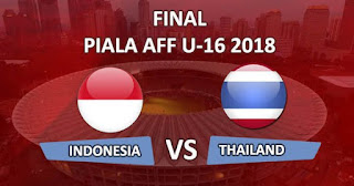 Jadwal Final Piala AFF U16 2018 Indonesia vs Thailand