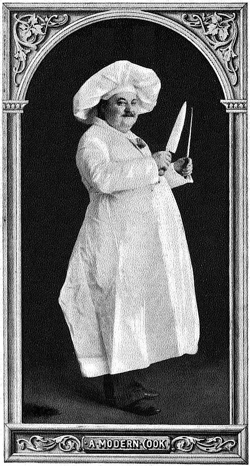 photo of a 1903 chef