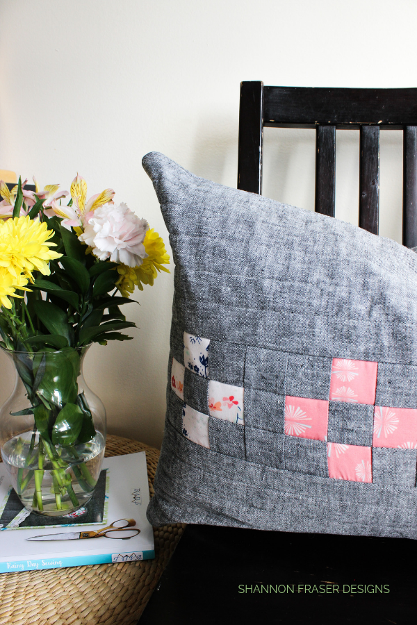 Spotlight Cushion | Rainy Day Sewing Book Tour | Shannon Fraser Designs #quiltedcushion #homedecor #sewing