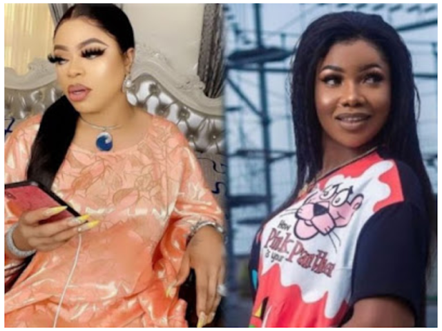"""Hormones: Controversial Bobrisky, a gay man who previously claimed to be """"cross-dresser"""" become emotional as Tacha calls him 'nice woman'"""