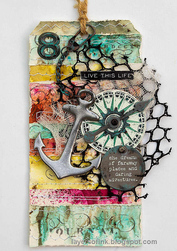 Layers of ink - Nautical Tag by Anna-Karin Evaldsson.