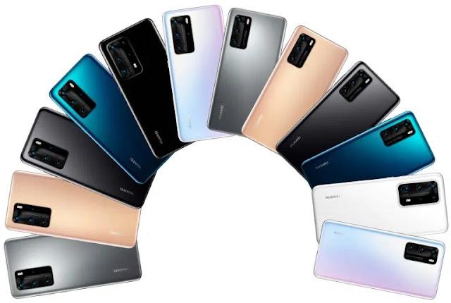 Berikut Adalah Bocoran Pilihan Warna dan Harga dari Huawei P40 Series