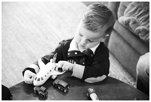 black and white lifestyle photo toddler boy