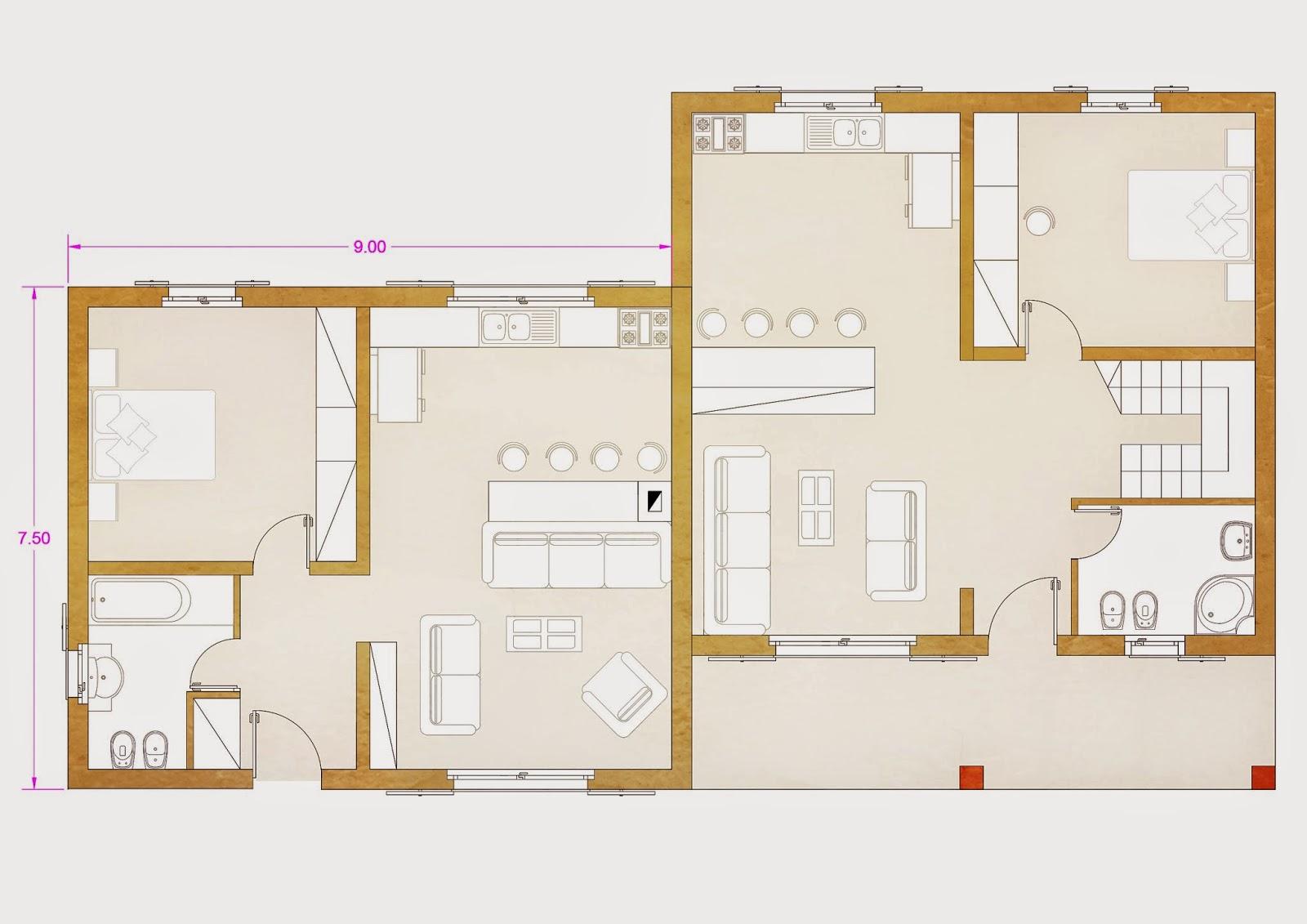 Progetti di case in legno for Progetti case interni
