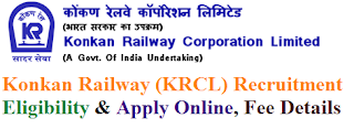 Konkan Railway (KRCL) Recruitment 2017 Eligibility & Apply Online for Management Trainee Posts