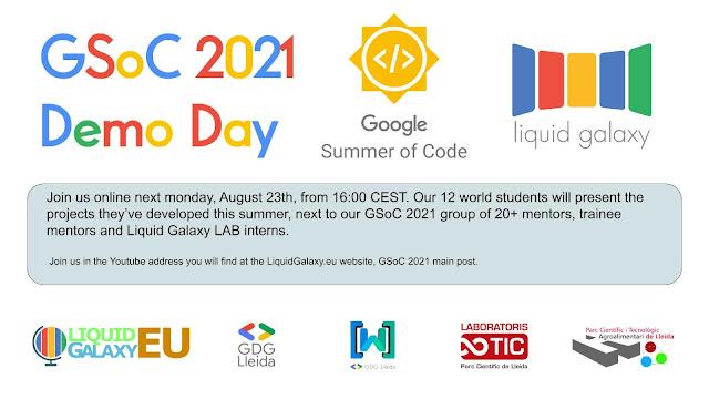 2a y última evaluación del Google Summer of Code 2021 en el Liquid Galaxy LAB