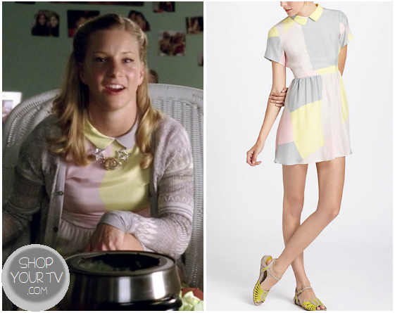 Glee: Season 4 Episode 12 Brittany's Pastel Colorblock Dress