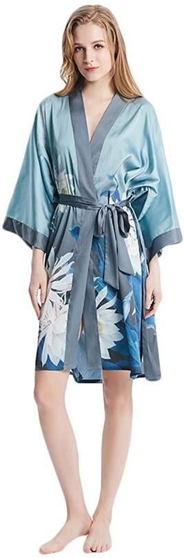 Women's Short Silk Robes