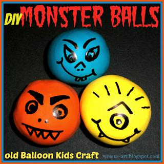 DIY Monster Balls 01      wesens-art.blogspot.com