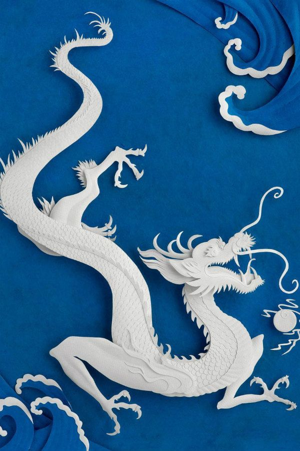 sea dragon paper sculpture