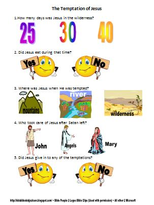 Bible Fun For Kids Life Of Jesus Worksheets