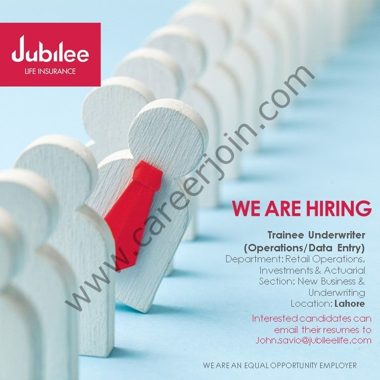 Jubilee Life Insurance Jobs Trainee Underwriter