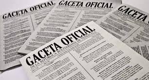 Consulte SUMARIO Gaceta Oficial Nº 41700 del 22 de agosto de 2019