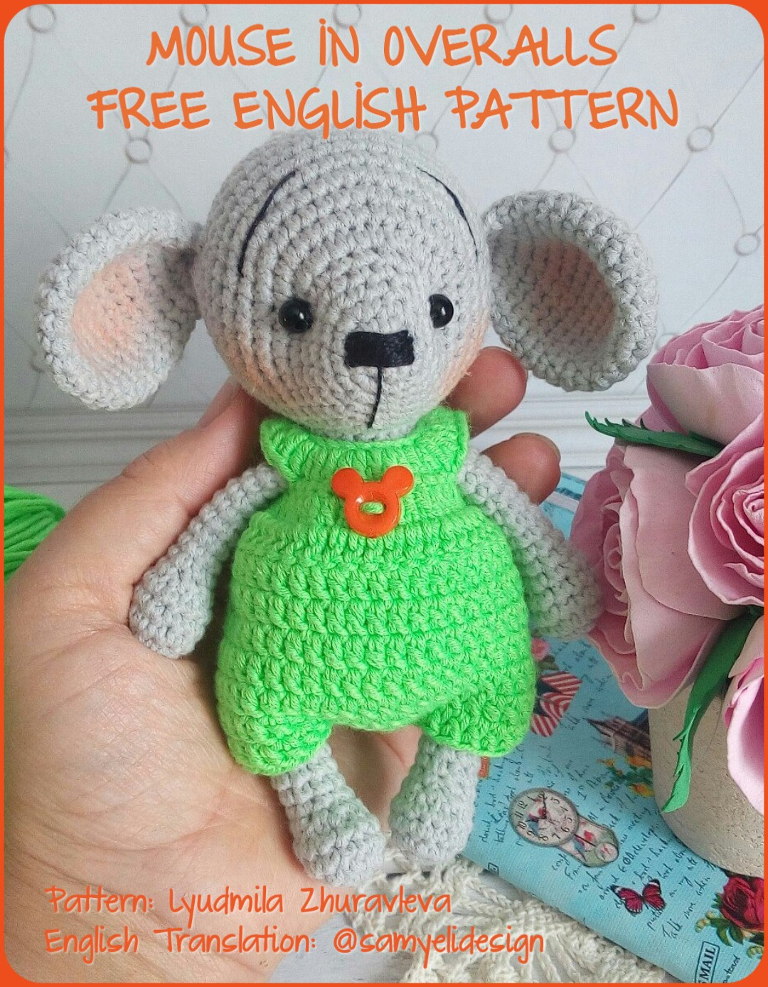 Sweet Mouse Amigurumi Free Crochet Patterns | 1387x1080