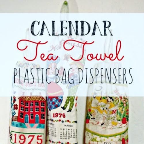Repurposed Calendar Tea Towels
