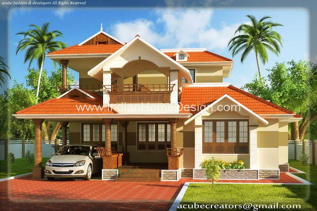 South Indian Style Home Exterior 3d Views Indian Home