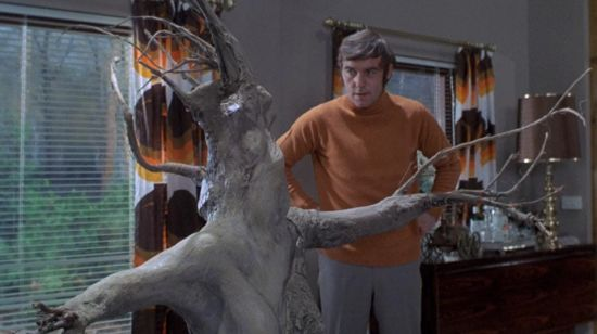 Michael Jayston and a weird-looking tree