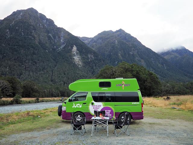 Campsite Milford Sound Neuseeland