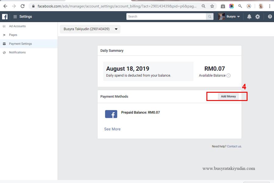 tutorial facebook, facebook ads, iklan di facebook, cara bayar iklan facebook,