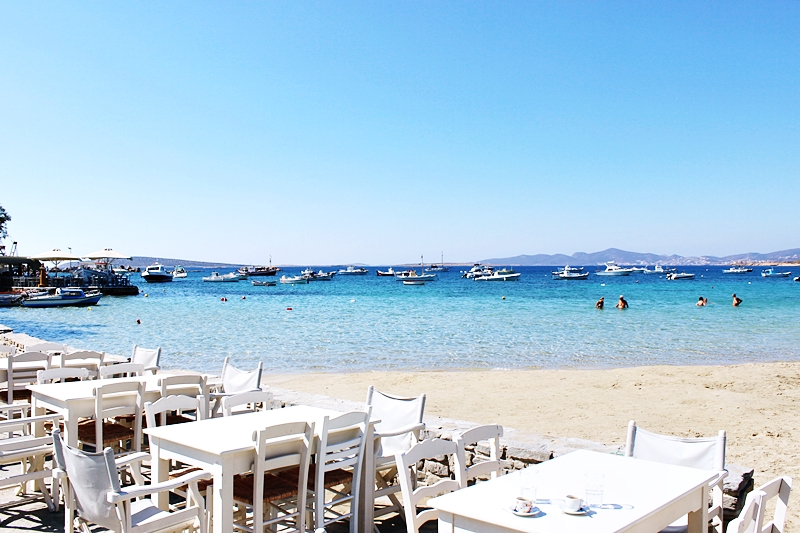 organized Aliki beach in Paros island