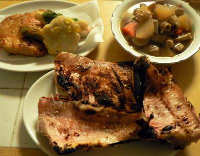 夕食の献立 献立レシピ 飽きない献立 赤魚粕漬 モツあっさり煮 さつま揚げ揚げ