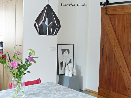 Küche vorher nachher mit DIY-Scheunentor Barndoor