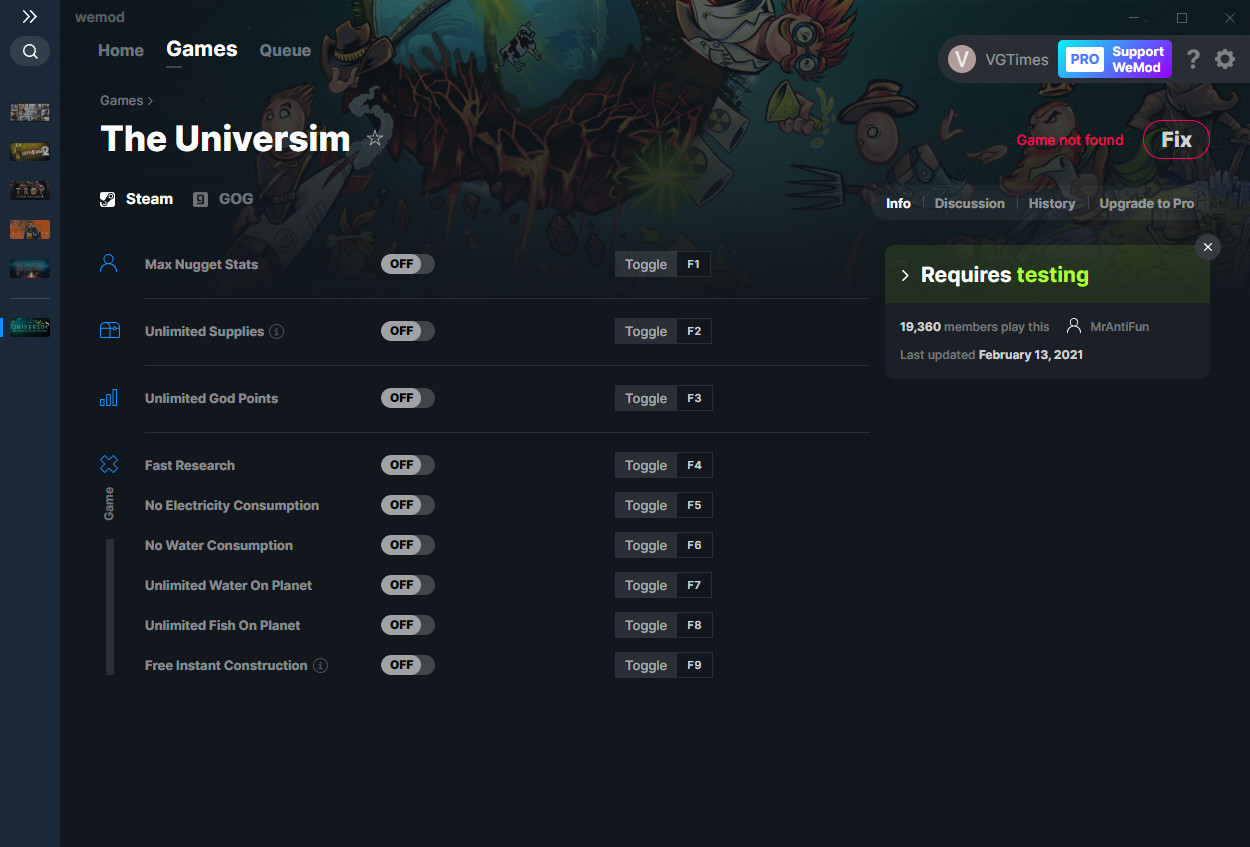 The Universim: Trainer (+9) from 13.02.2021 [WeMod]