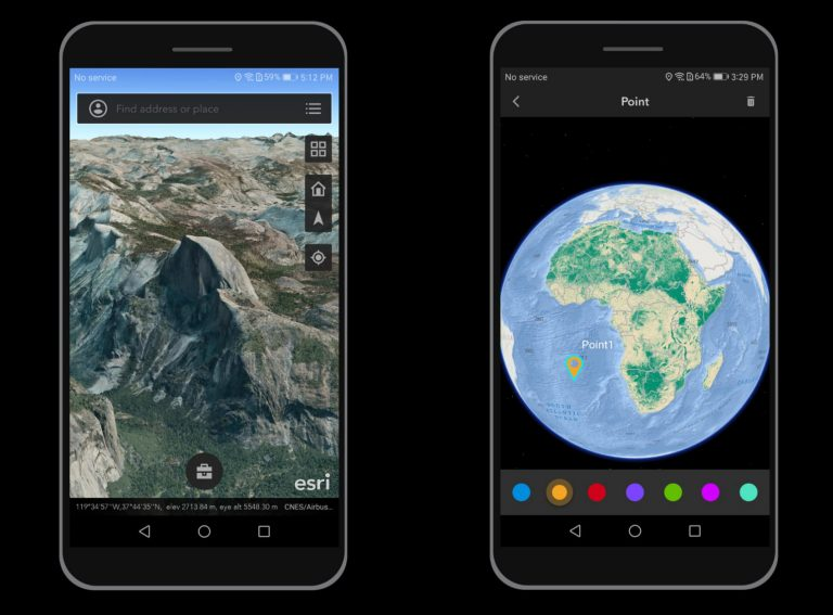 إصدار ArcGIS Earth Android و iOS (إصدار تجريبي)!