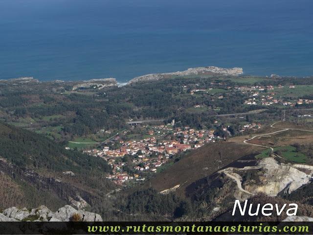 Vista de Nueva de llanes desde el Benzúa
