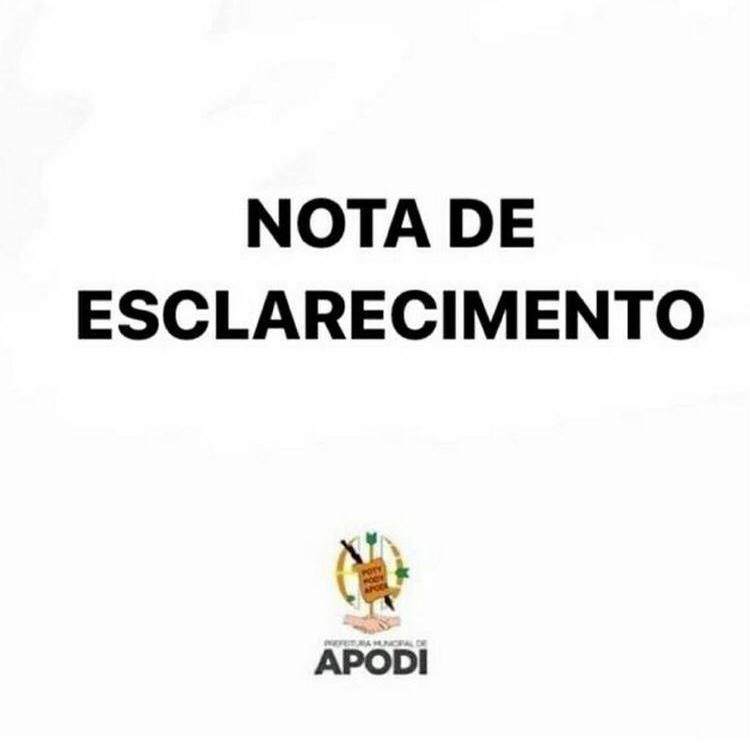 APODI:  NOTA DE ESCLARECIMENTO