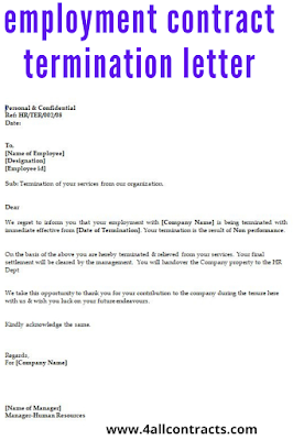Employment contract end letter