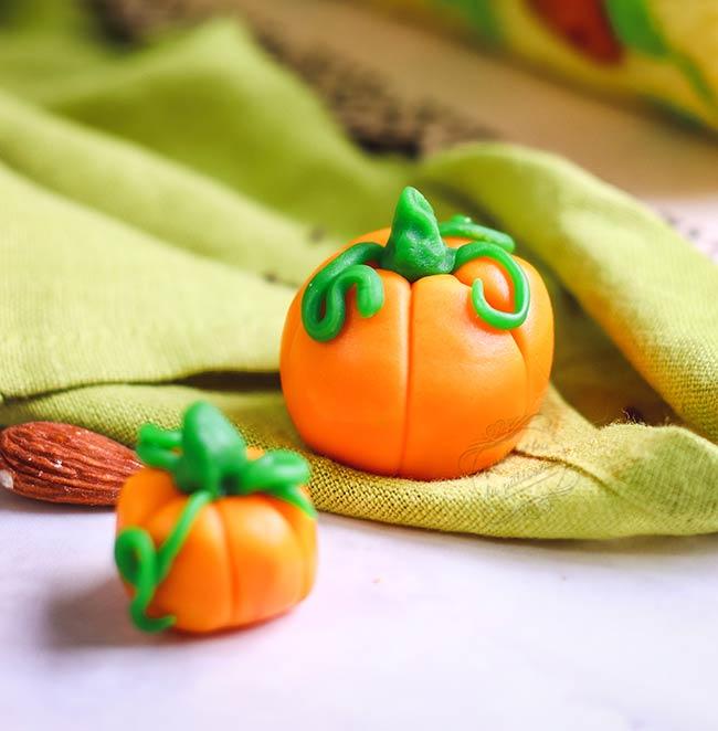 citrouilles halloween pate à sucre
