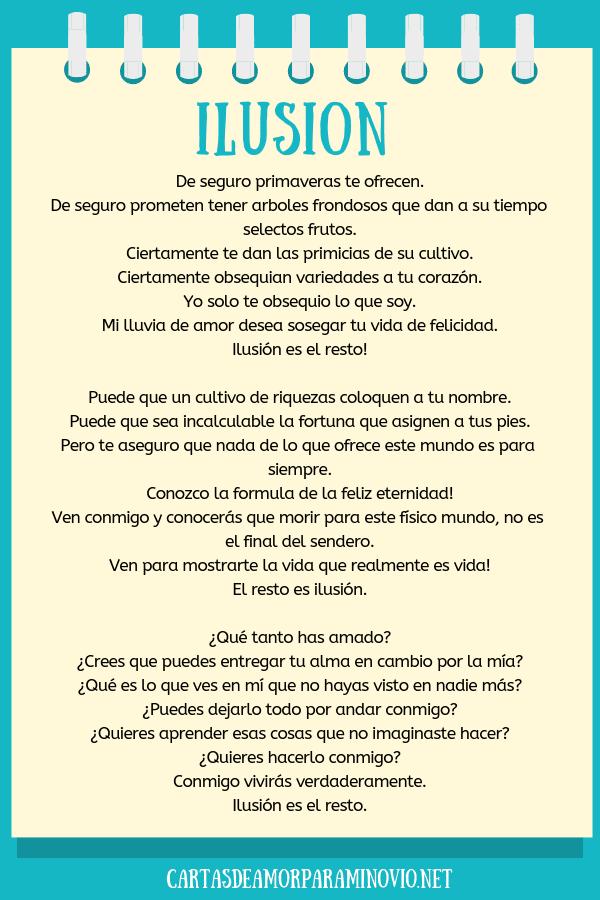 Carta de amor para mi novio para llorar - Ilusión