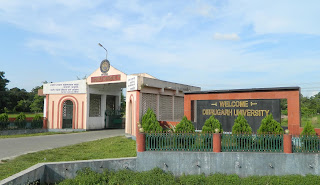 A picture of front gate of Dibrugarh University