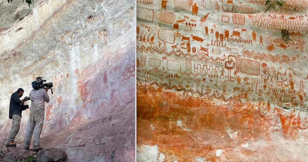 Incredible 8-Mile-Long Cave Paintings Dating Back 12,000 Years Discovered Deep In The Amazon Rainforest