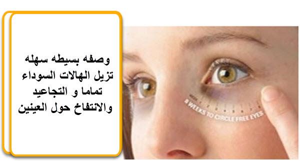 وصفه بسيطه سهله تزيل الهالات السوداء تماما و التجاعيد والانتفاخ حول العينين