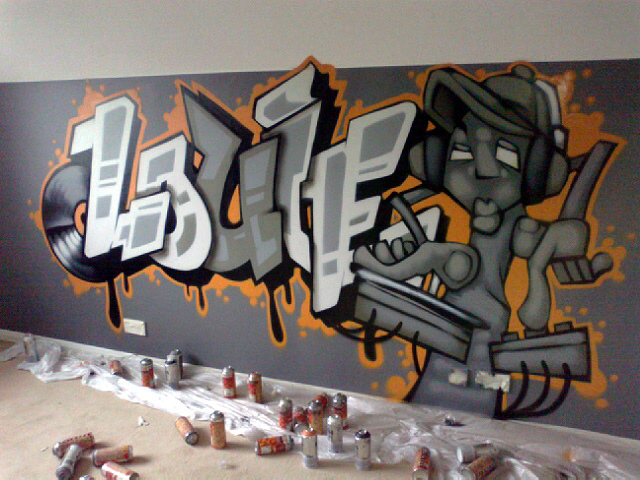 Graffiti Bedroom Decoration On The Wall