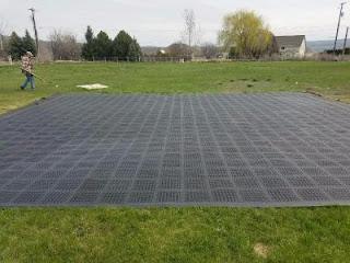 Greatmats outdoor perforated tiles outdoor event floor