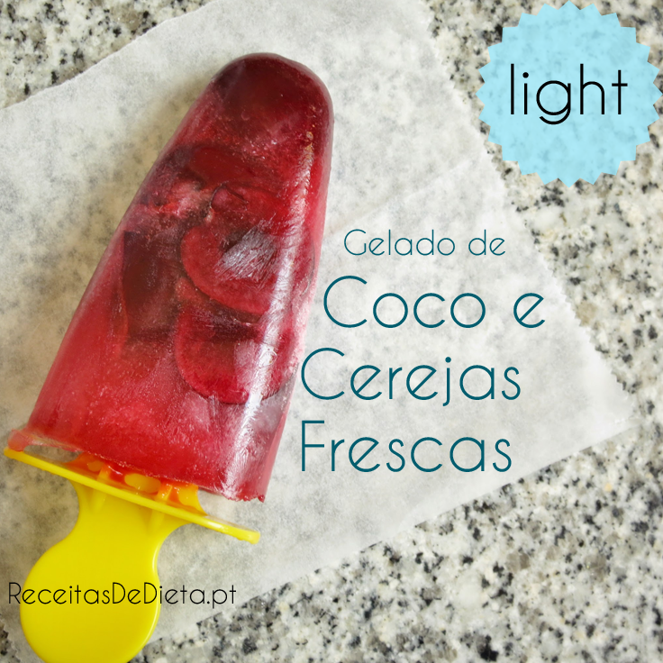 Gelado de Coco e Cerejas Light