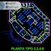 مخطط وصفي مستشفى عام 6 طوابق اوتوكاد dwg